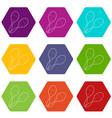 maracas icons set 9 vector image