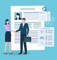 medical insurance man and woman handshake vector image