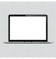 modern laptop computer mockup isolated on vector image vector image