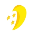 Moon and stars icon isometric 3d style vector image vector image