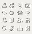 network and servers line icons vector image vector image