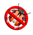 no bug prohibition sign on white background vector image vector image