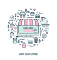 Online shopping Set with fast food vector image vector image