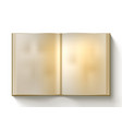 open blank clear old book on white background vector image