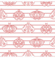 red line moth seamless pattern vector image