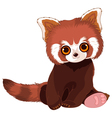 Red Panda Portrait vector image vector image