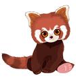 Red Panda Portrait vector image