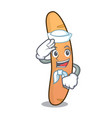 sailor baguette character cartoon style vector image vector image