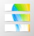 set banner rainbow design vector image vector image