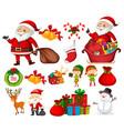set christmas element vector image