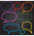 Set of 8 doodle style speech bubbles vector image