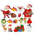 set of christmas element vector image