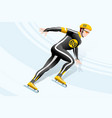 short track skating winter sports vector image
