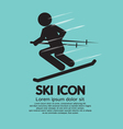 Ski Icon vector image