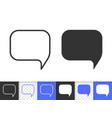 speech bubble simple badge black line icon vector image vector image