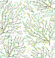 Spring branches and flowers seamless pattern vector image vector image