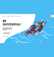 successful business web page with male and female vector image vector image
