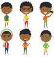 summer african- american male characters vector image vector image