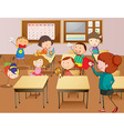 Teacher and students at school vector image vector image