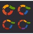 Unusual Circle Arrows Set vector image vector image