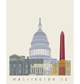 Washington DC skyline poster vector image vector image