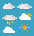 weather forecast concept vector image