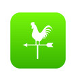 weather vane with cock icon digital green vector image vector image