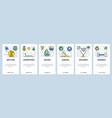 web site onboarding screens sport games hobby vector image vector image