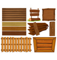 wooden boards and sign vector image vector image