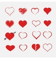 Red heart collection icon vector image