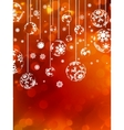 Abstract christmas with snowflake EPS 10 vector image vector image