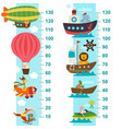 air and sea transport height measure vector image vector image