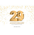anniversary 29 gold 3d numbers vector image vector image