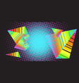 background triangles 80s vector image