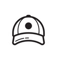 baseball cap icon flat style design vector image