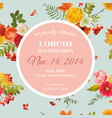 bashower invitation template floral card vector image