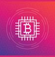 bitcoin icon linear style vector image vector image