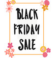 black friday sale banner kids handwritten vector image vector image