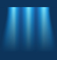 blurred blue background concept light on stage vector image