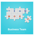 business team concept background with jigsaw vector image vector image