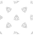 camp jacket icon outline style vector image vector image