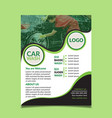 car washing flyer design template vector image vector image
