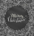Chalk Merry Christmas background vector image vector image