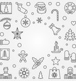 christmas and new year outline frame vector image vector image