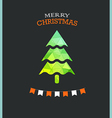 Christmas greeting card with green pine vector image vector image