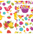 collection of spring easter seamless patterns with vector image vector image