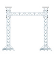 colored flat style truss tower lift construction vector image vector image