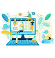 computer app or web page usability testing vector image