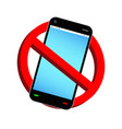 do not use phone prohibition sign vector image vector image