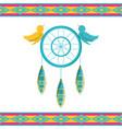 dreamcatcher symbol hippie concept vector image vector image